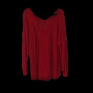 DAYTRIP Size Large Red Sweater